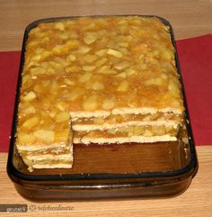 Prajitura cu mere, biscuiti si budinca (fara coacere) - Forum Discutii Culinare - Comunitate, Retete, Poze, Sfaturi Apple Recipes, Sweet Recipes, Baking Recipes, Cookie Recipes, Dessert Recipes, Croatian Recipes, Hungarian Recipes, Non Plus Ultra, Good Food
