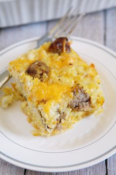 Sausage, Cheese and Hash Brown Breakfast Casserole