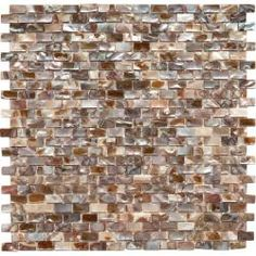@Overstock - This mesh mounted mosaic of seashells is perfect for your kitchen, bath, bar or backsplash. Bring the atmosphere of the sea with this vibrant mosaic tile.http://www.overstock.com/Home-Garden/SomerTile-11.75x11.75-in-Seashell-Subway-Perla-Mosaic-Tile-Pack-of-10/5569330/product.html?CID=214117 $213.99