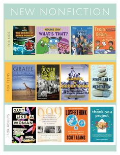 New+NonFiction Book Suggestions, What To Read, Super Powers, Problem Solving, Nonfiction, Activities, Books, Non Fiction, Libros