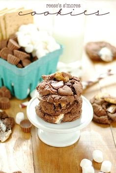 Reese's S'mores Cookies | www.somethingswanky.com