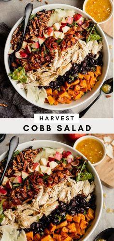 Salad Recipes With Bacon, Healthy Salad Recipes, Roasted Butternut, Butternut Squash, Harvest Salad, Turkey Salad, Leftover Turkey, Fall Harvest, Autumn