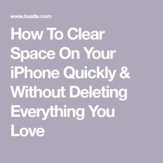 At one point in your life, you have probably struggled with trying to figure out how to clear space on your iPhone quickly, and without deleting precious photos/videos/memes from your device. You likely realized your phone was running low on storage… Iphone Life Hacks, Cell Phone Hacks, Smartphone Hacks, Technology Hacks, Computer Technology, Iphone Codes, Iphone Information, Iphone Secrets, Computer Help