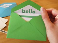 Free Printable Mini Envelope Templates and Liners | Clementine Creative | DIY Printable Stationery