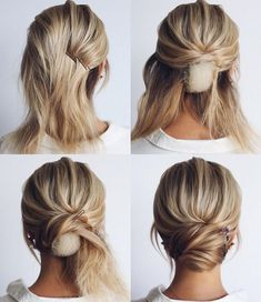 This elegant hairstyle is also suitable for wedding.Low bun wedding hair can match your wedding dress. Bridal hair updo, high updo, short hair updo or bridesmaid hair updo is perfert for wedding hairstyles updo. Save this Easy And Hair Tutorials Dutch bra