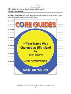 Enjoy a free Vocabulary Sheet from our Core Guide on the informational text 'If Your Name Was Changed at Ellis Island' by Ellen Levine. Download here - https://learninginstitute-my.sharepoint.com/personal/david_harrison_tli_net/_layouts/15/guestaccess.aspx?guestaccesstoken=GIdXqPcvhk9vCrqCDS8b/PeSAIlpFOcfbwSh5AOB7UQ%3D&docid=07e3d05f9c9e74d2fa3933fcf4878e787