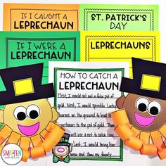 March Leprechaun St. Patrick's Day Writing prompts