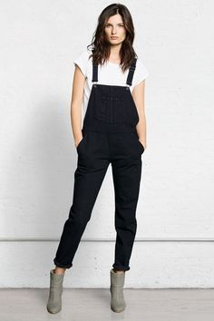 The Tomboy Way To Do Throw-On-&-Go #refinery29  http://www.refinery29.com/overalls#slide-10  ...