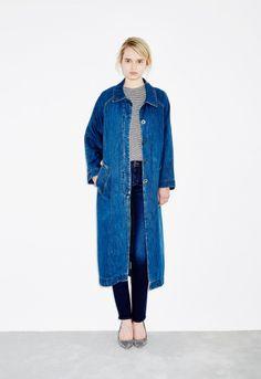Raglan Denim Coat - Stone Blue
