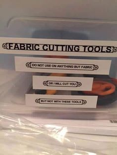 FABRIC shears. Emphasis on FABRIC. #sewing #crafts #handmade #quilting #fabric #vintage #DIY #craft #knitting