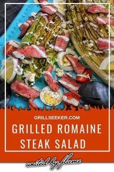 Sometimes you gotta eat some salad! Why not add some steak and take this steak salad straight to the grill. Try this twist on a classic. Summer Grilling Recipes, Healthy Grilling, Potluck Recipes, Barbecue Recipes, Dinner Recipes, Grilling Tips, Good Steak Recipes, Beef Recipes, Salad Recipes