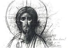 Kiko Arguello Jesus Son Of God, Jesus Faith, Jesus Christ, Catholic Art, Religious Art, Orthodox Icons, Sacred Art, Christian Art, Portrait Art
