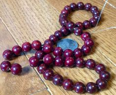 8mm Deep Dark Wine Cranberry Fossil Jasper Gemstone Beads Full Strand | evezbeadz - Craft Supplies on ArtFire