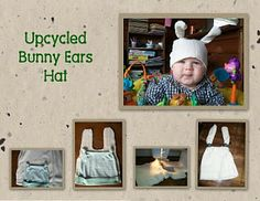 Recycling Sweatshirts - upcycled bunny ears hat #repurpose