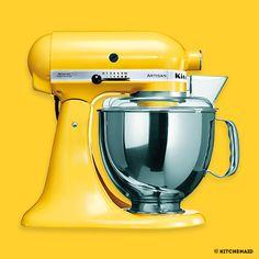 LE ROBOT CHIC & DESIGN KitchenAid  L'art culinaire au service de vos envies les plus gourmandes. #jaunebycartenoire