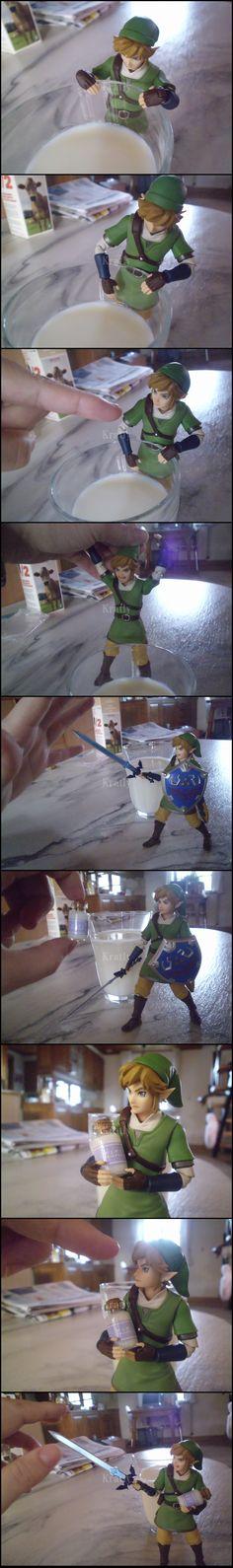 The Legend of Zelda, Link / Milk by Kratly on deviantART