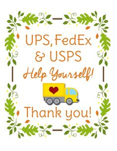 Make a delivery driver thank you with this free printable. Place snacks and drinks outside for your UPS driver, Fedex delivery man, or mail carrier. It's a great way to show your appreciation during the Christmas season! Holiday Fun, Christmas Holidays, Christmas Ideas, Merry Christmas, Christmas Porch, Christmas Stuff, Winter Holidays, Holiday Ideas, Christmas Decor