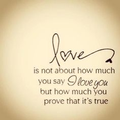 Love is not about...