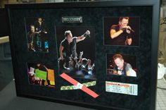 Concert Ticket Shadow Box   frame in a shadowbox the resulting shadowbox is show here
