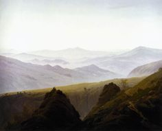 Morning in the Mountains (1822-1823) by Caspar David Friedrich