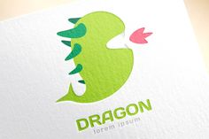Cute dragon silhouette logo icon by Vector-Stock on Creative Market
