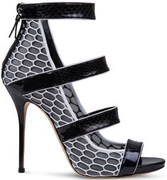 Casadei Graphic White-Black Sandal $990.00 #shoes #heels - CLICK HERE for more: http://www.needcuteshoes.com/products/casadei-graphic-white-black-sandal/