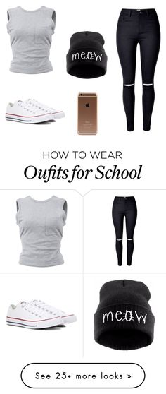 """""""Look for school"""" by skylerblack148 on Polyvore featuring T By Alexander Wang and Converse"""