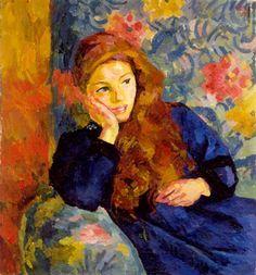Pensierosa (Pensive Girl)          Giovanni Giacometti.