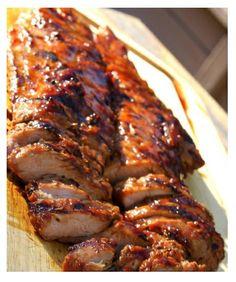 Glazed pork tenderloin, asian-style.