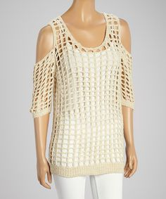 Look what I found on #zulily! 321 Charlie Natural Crocheted Cutout Tunic by 321 Charlie #zulilyfinds