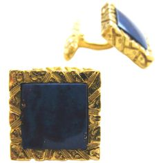 A smart pair of gold and lapis cufflinks. The square gem quality lapis cufflinks mounted in a textured yellow gold frame with hinged backs for ease of wear. Stylish and elegant. Gold C, Vintage Cufflinks, Emerald Gemstone, Lapis Lazuli, Bracelet Watch, Dangle Earrings, Gemstones, Diamond, Labradorite