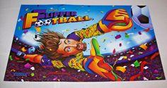 Capcom FLIPPER FOOTBALL 1996 Original NOS Pinball Machine Translite Artwork…