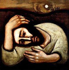 christ-in-gethsemane- by Michael D Obrien Easter begins with a life of sharing that leads to death on a cross. Practice Holy Week this evening at a church near you.