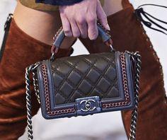 Take a Close Look at Chanel's Metiers d'Art 2015 Paris-Salzburg Bags Chanel Boy Bag, Chanel Bags, Fashion Seasons, Purse Wallet, Fashion Bags, Messenger Bag, Satchel, Take That, Handbags