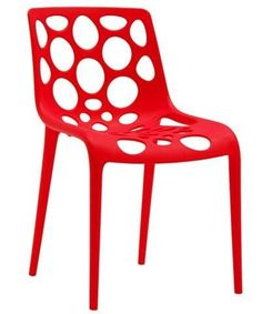 Hero Chair (Set of 4)  Made in Italy by Calligaris Available in light green, black, white, orange, or red Stackable up to 4 chairs high Suitable for indoor or outdoor use UV resistant so won't fade Suitable for contract use Made of durable polypropylene #contemporary #furniture #modern #diningroom #chair
