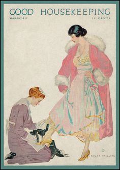 The Pictorial Arts: Downton Abbey [Good Housekeeping cover, March 1917.  Illustration by Coles Phillips.]