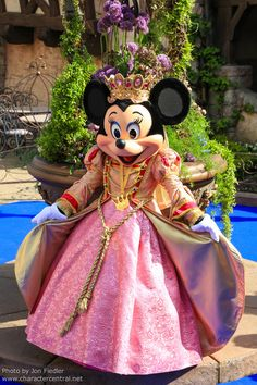 Princess Minnie Mouse in one of her Disney Gardens!
