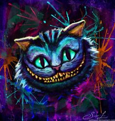 alice im wunderland zeichnungen katze - Со Старым Новым Годом Cheshire Cat Art, Cheshire Cat Alice In Wonderland, Chesire Cat, Diamond Drawing, Diamond Art, 5d Diamond Painting, Tim Burton, Black Cat Painting, Lewis Carroll
