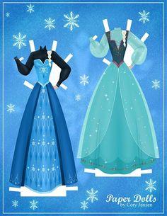 Disney's Frozen Printable Paper Dolls – SKGaleana Frozen Paper Dolls, Disney Paper Dolls, Disney Frozen Party, Frozen Birthday Party, Elsa Frozen, Frozen Free, Frozen Movie, Anna Und Elsa, Frozen Crafts