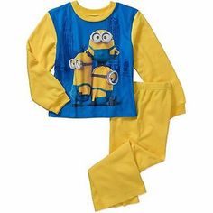 Despicable Me Minions Pals Boys Pajamas long sleeve size 4/5 FLAME RESISTANT