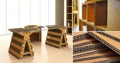 Muebles modulares de cartón que puedes construir tú mismo