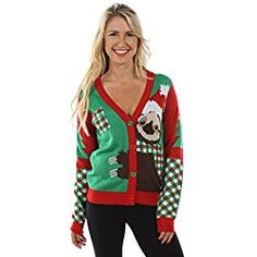 974f1829b1 Women s Sloth Ugly Christmas Sweater  Medium Christmas Sloth