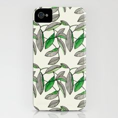 Watercolor Leaves by Marina Molares IPHONE CASE / IPHONE (4S, 4)