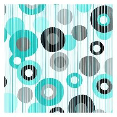 Easy Wash Care Fabric- Circles Lines Teal, Black Grey ($13) ❤ liked on Polyvore featuring backgrounds