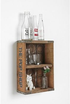 I need to find a vintage crate, and turn it into a medicine cabinet for the farm...just gotta add a mirror and magnet to close it. .......D.