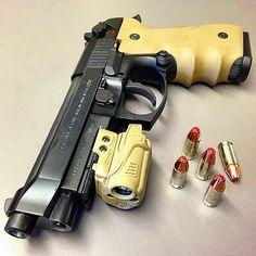 Berretta, M9A1 9mm, Hogue grip, pistol, guns, weapons, self defense, protection, 2nd amendment, America, firearms, munitions #guns #weapons