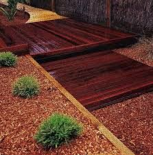 merbau seating with plants - Google Search
