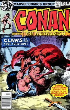 Marvel Comics of the 1980s: 1979 - Anatomy of a Cover - Conan the Barbarian #95…
