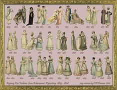 41 Regency Fashion Plate Ladies from Ackermann's Repository in PNG form by EKDuncan - available at http://www.ekduncan.com/2011/11/41-regency-fashion-plate-ladies-from.html