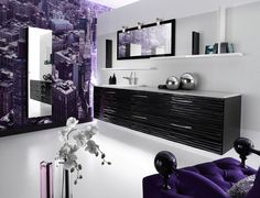 Superb Purple Bathroom U2013 This Shade Blends Properly With Other Shades, From The  Coarse Black To Pale Beige And White. This Colour Is Good Decorate The  Bathroom.